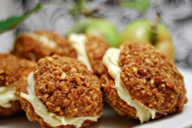Apple Spice Cake Cookie Sandwiches