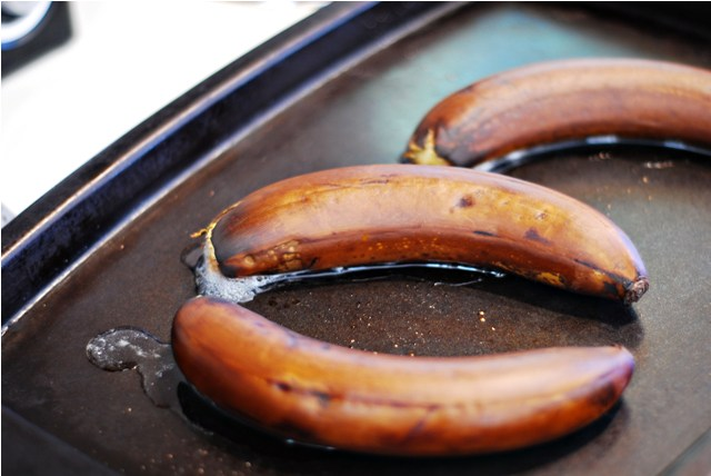 Bananas after roasting