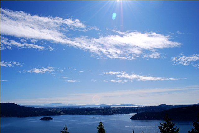 View of Brentwood Bay from Malahat