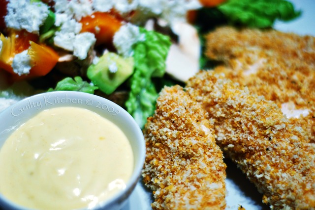 Healthy chicken strips made at home, that your whole family will eat