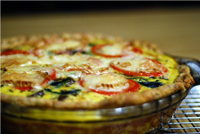 Fully loaded quiche