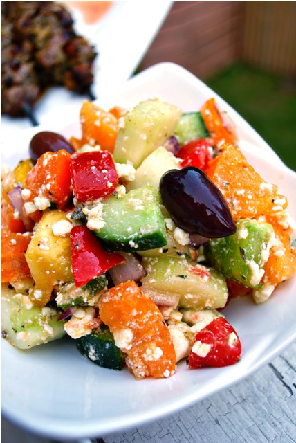 Greek salad, so colourful