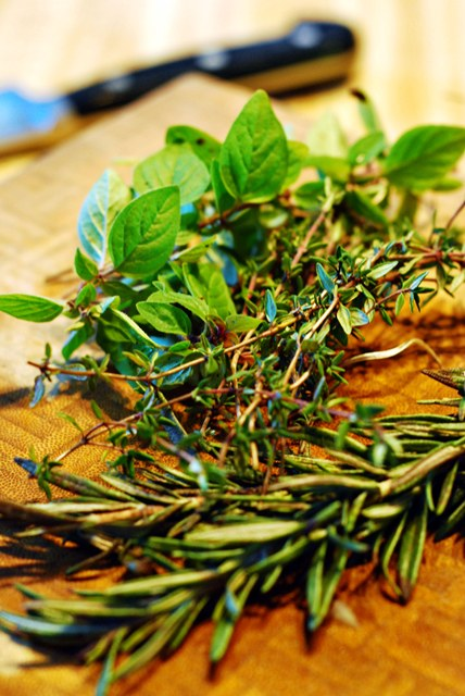 Fresh herbs for stew