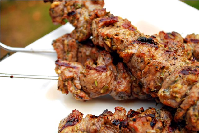Lamb kebabs done right, medium rare
