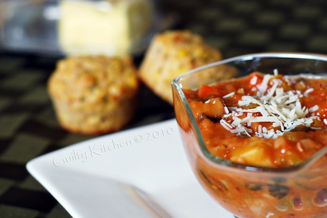 Minestrone Soup with Cornbread