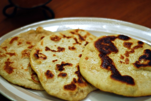 afghan flat bread naan spicy uighur street meat and buttered naan