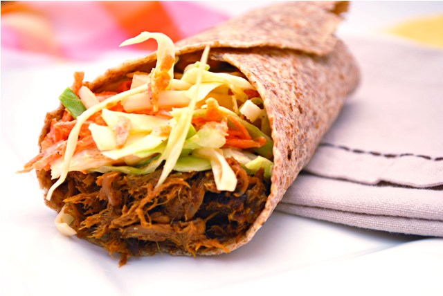 Pulled Pork Wrap with Coleslaw