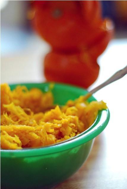 Making pumpkin puree from scratch
