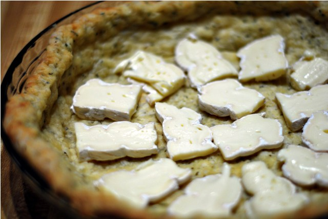 Brie lining for fully loaded quiche
