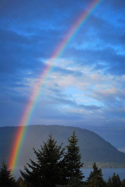 Rainbow in Salish Sea