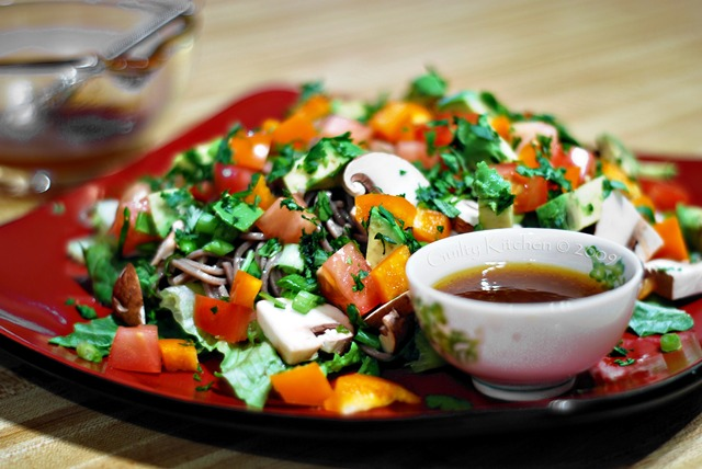 Soba Noodle Salad with Asian dressing