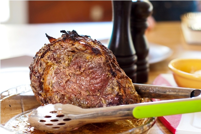 Prime Rib Roast With Fresh Horseradish