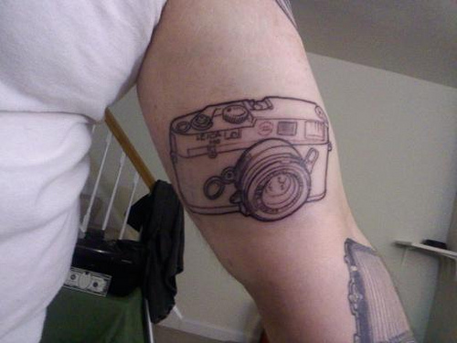 camera tattoo. Photo by cheddarfish