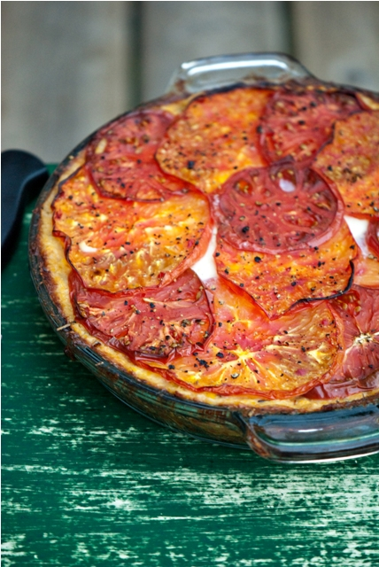 Heirloom Tomato & Polenta Tart