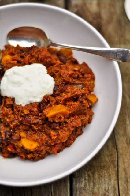 Pumpkin and Black Bean Chili (Slow Cooker)