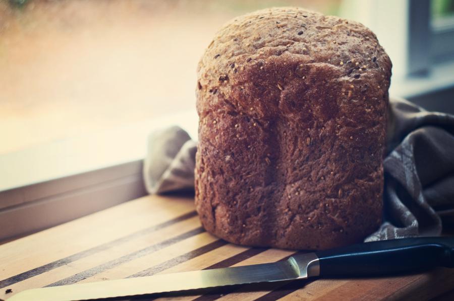 whole wheat machine bread