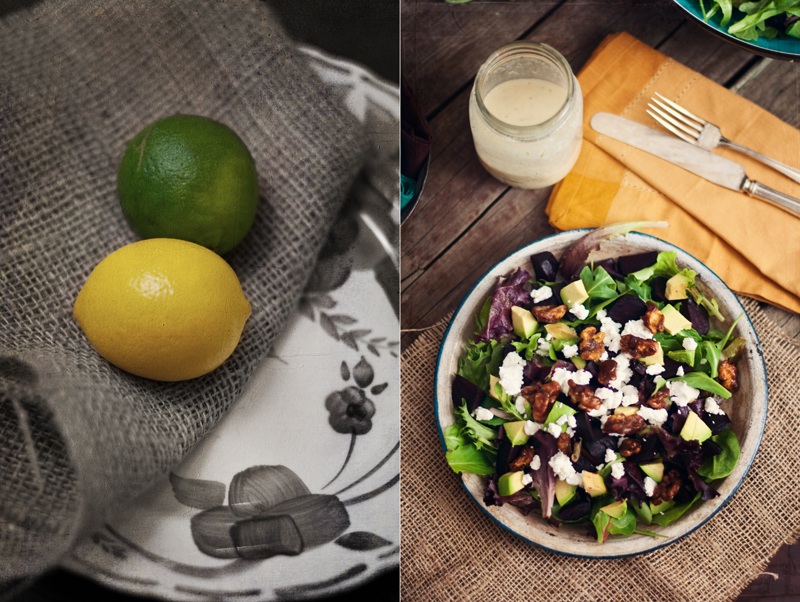 Beet and Candied Walnut Salad Diptych 2-2