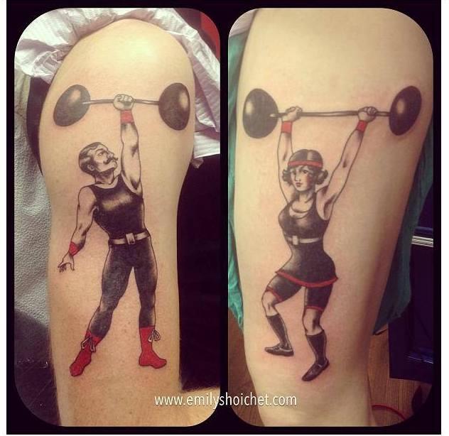 weight lifter diptych