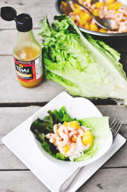 Mango Shrimp Spicy Lettuce Rice Cups