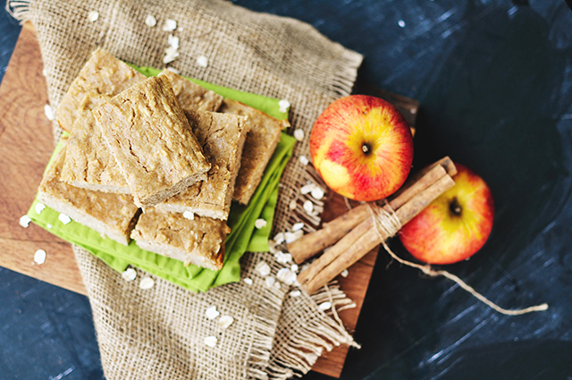 Peanut Butter Apple Oat Bars - Guilty Kitchen