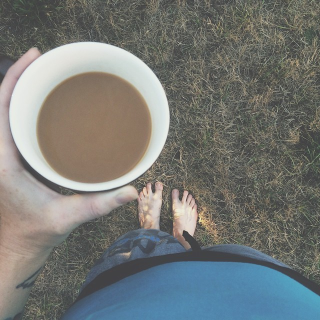 coffee in the lawn